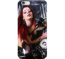 Harley Davidson girl 04 iPhone Case/Skin