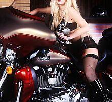 Harley Davidson girl 05 by bravomodels
