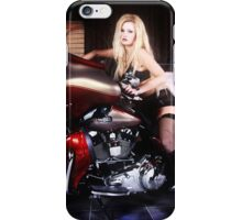 Harley Davidson girl 05 iPhone Case/Skin