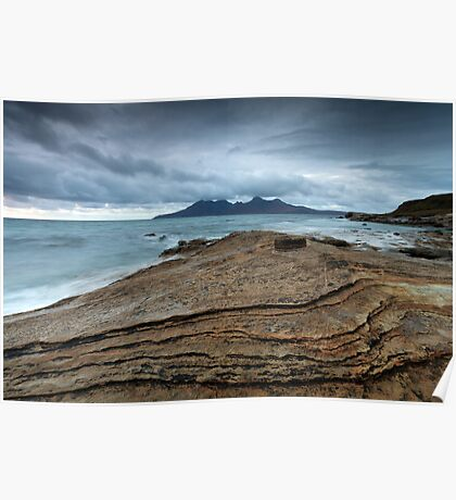The contours of Eigg Poster