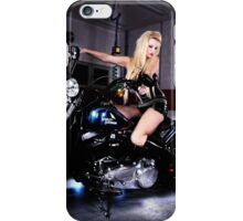 Harley Davidson girl 07 iPhone Case/Skin