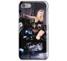 Harley Davidson girl 07 iPhone Case/Skin