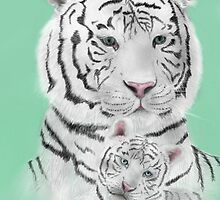 White Bengal Tigers by PandorasEncore