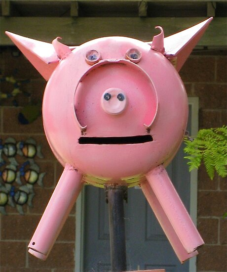 Pink Piggy # 3 by Penny Smith