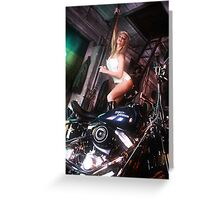 Harley Davidson girl 01 Greeting Card
