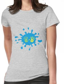 Blue Splash  Womens Fitted T-Shirt