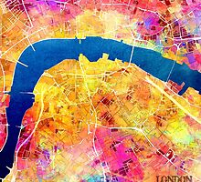 London city maps colored by JBJart