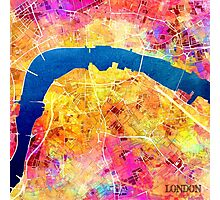 London city maps colored Photographic Print