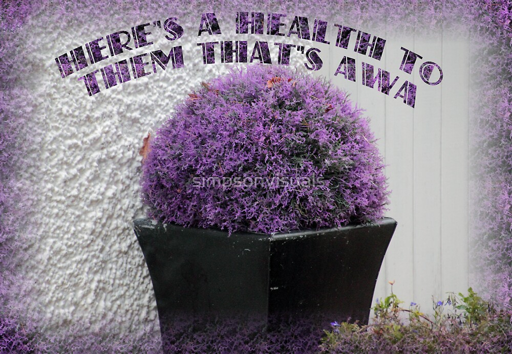 Purple Heather in a Pot by simpsonvisuals