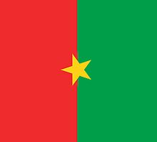 Burkina Faso Flag by pjwuebker