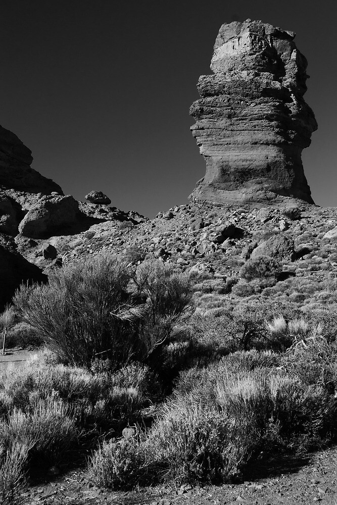 Pillar near Mt Teide by Chris Cardwell