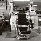Small Town America ~The Barber Shop by Rachel Sonnenschein