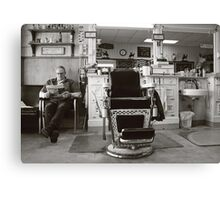 Small Town America ~The Barber Shop Canvas Print