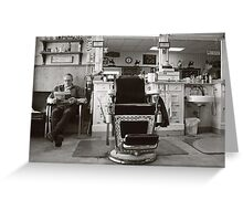 Small Town America ~The Barber Shop Greeting Card
