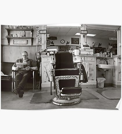 Small Town America ~The Barber Shop Poster