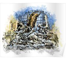 Prague angels sculpture Poster