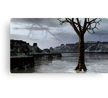A Winter Thunderstorm Over Nevermore Pond Canvas Print