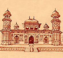 Itmad-ud-Daula Tomb Agra, Uttar Pradesh by Redilion