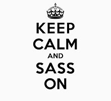 Keep Calm and Sass On (LS) Womens Fitted T-Shirt