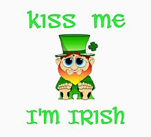 Kiss Me I'm Irish & Cute  feat Lil Blarney  Unisex T-Shirt