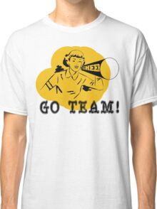 "Cheerleading ""GO TEAM"" Retro Classic T-Shirt"