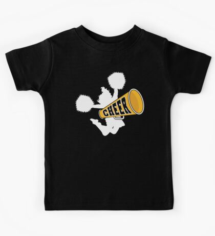 "Cheerleader ""CHEER"" Dark Kids Tee"