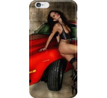 Red car and babe iPhone Case/Skin