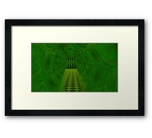 Falling Into A Warped Tessellation Disintegtration Framed Print