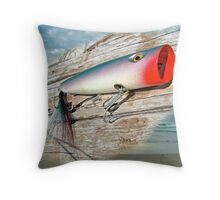 AJS Big Mouth Popper Saltwater Fishing Lure Throw Pillow