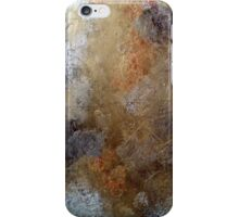 Eroded Triangles on silver and copper surface iPhone Case/Skin