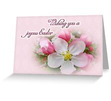 Easter Greeting Card - Apple Blossoms Greeting Card