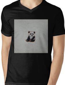 Tiny Panda Mens V-Neck T-Shirt