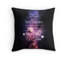 Once Upon a Time- The Lunar Chronicles- Marissa Meyer- Space Purple Throw Pillow