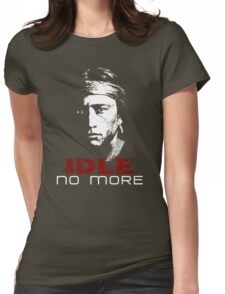 IDLE NO MORE (Navajo) Womens Fitted T-Shirt