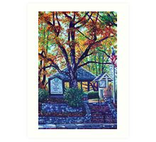 'MEMORIAL PARK' (BLOWING ROCK, NC)  Art Print