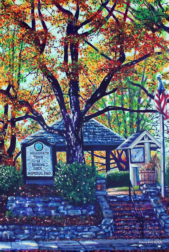 'MEMORIAL PARK' (BLOWING ROCK, NC)  by Jerry Kirk