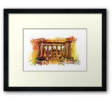 The Acropolis Of Athens Framed Print