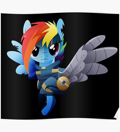 Warrior Rainbow Dash Poster