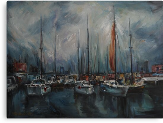 Port at Dusk by Stefano Popovski