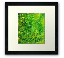 Green Contemporary Abstract Modern Painting Framed Print