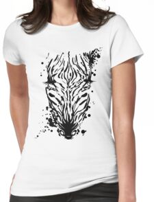 Zebra Ink Womens Fitted T-Shirt
