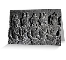 Bas-reliefs of Angkor Wat, Cambodia Greeting Card