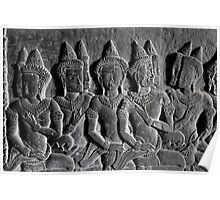 Bas-reliefs of Angkor Wat, Cambodia Poster