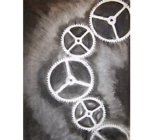 Charcoal Gears Photographic Print