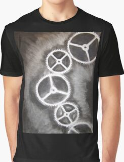 Charcoal Gears Graphic T-Shirt