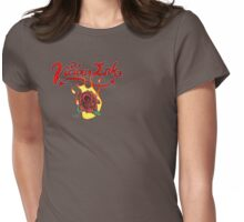 Flaming Rose Womens Fitted T-Shirt