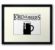 Lord of the Beers - Fellowship of the Beer Framed Print