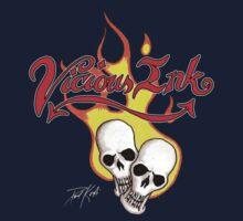 Flaming Skulls by TattooPaul