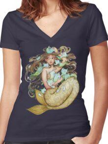 Mer Kittens Women's Fitted V-Neck T-Shirt