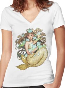 Mer Kittens Women's Fitted V-Neck T-Shirt